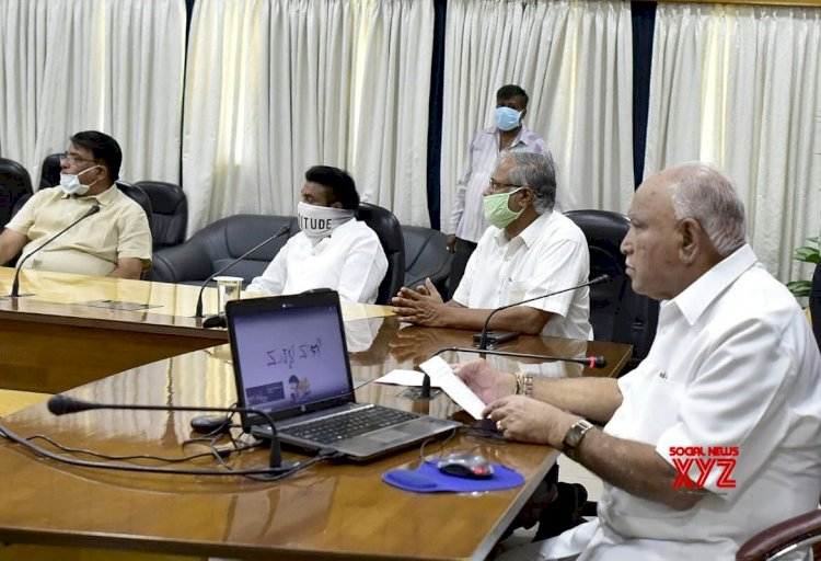 CM B.S.YEDIYURAPP MEETING WITH MINISTER ABOUT LOCK DOWN - 4.0