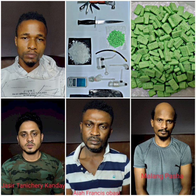 CCB arrest 4 Notorious drug peddlers,including two from Nigeria,seized synthetic Drugs worth Rs.20 Lakhs :