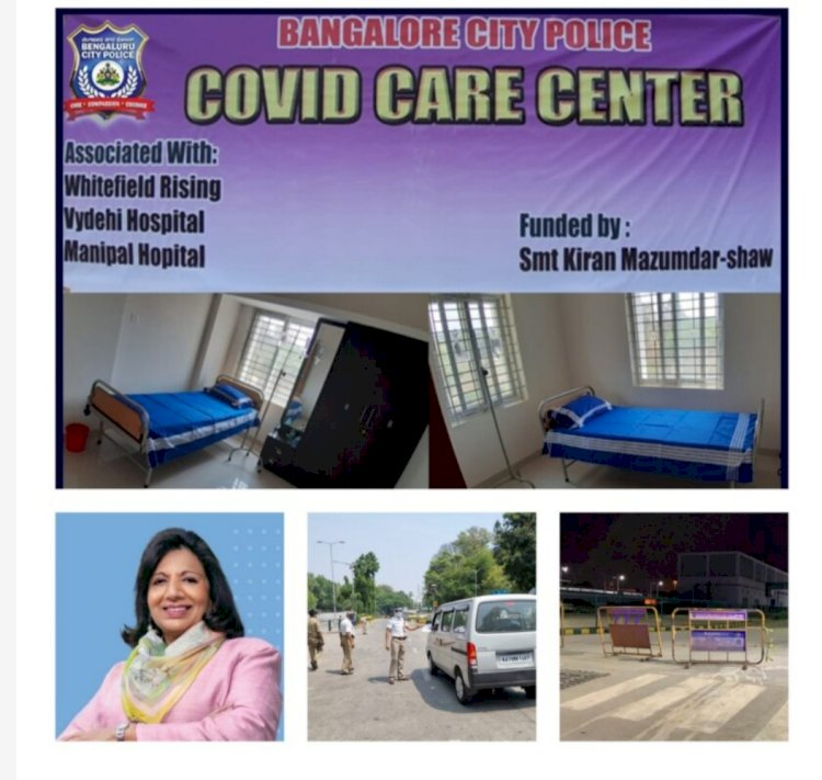 Bengaluru city police personnel gets exclusively two Covid care centers for Covid treatment :
