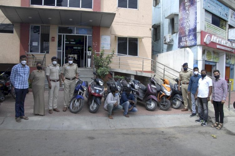 Two Habitual offenders bike lifters arrested by JC Nagar police stolen bikes Worth Rs.4.3 lakhs recovered