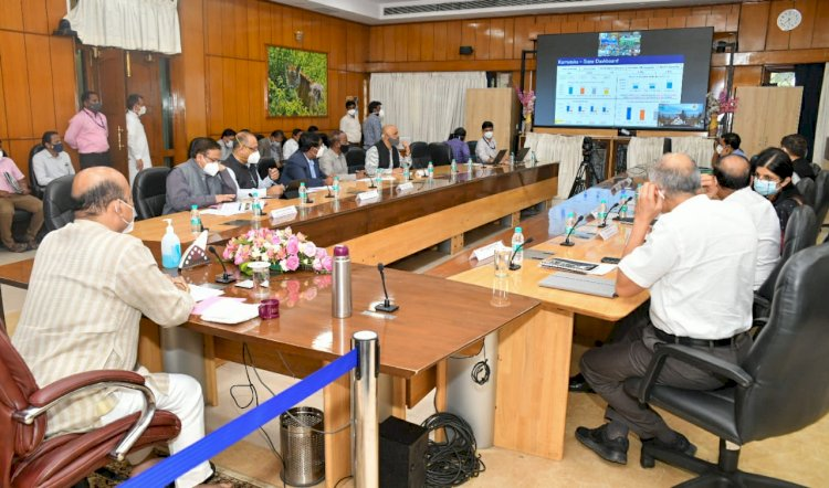 The Chief Minister's Video Conference held on 31-7-2021 with DCs of Border Districts